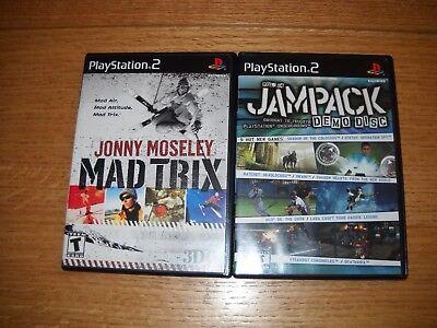 Playstation 2 Jampack Demo Disc Vol. 14 and Jonny Moseley Mad Trix