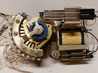 C P Clare Co Gold Contact 12 Step 8 Position Stepping Switch Indexing Relay