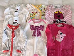 Winter pyjamas -  3-6 month old baby girl Camp Hill Brisbane South East Preview