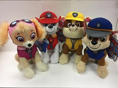 "Paw Patrol Plush Stuffed Animal Toy Set: Chase, Rubble, Marshall & Skye-10"""