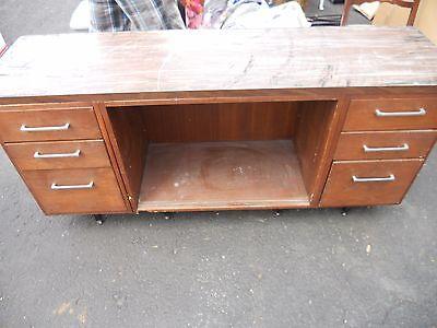 LOCAL PICKUP ANTIQUE Home Office Wood Furniture Computer Desk Storage Shelf