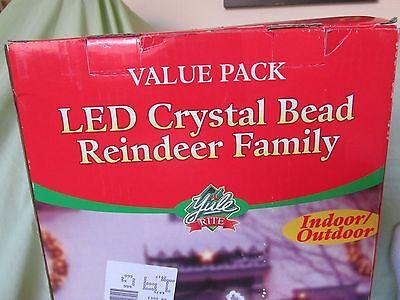 Led Crystal Bead Reindeer Family Christmas Lighted Indoor