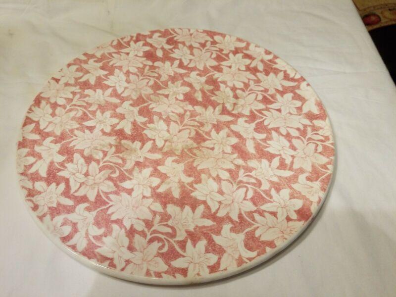 "Vtg Royal Tudor Ware Cake Plate by Barker Bros Ltd Chintz Floral 11 1/4"" England"