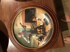 Norman Rockwell plate - the banjo player