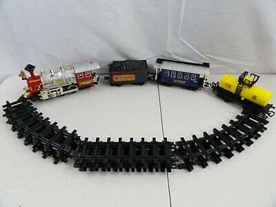 Train Set For Christmas Tree - Eastern Express Electric Engine 3 Cars And Tracks