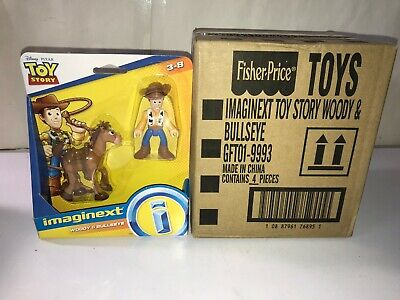Imaginext Toy Story - Woody and Bullseye from Toy Story 4 movie 3 inch figures