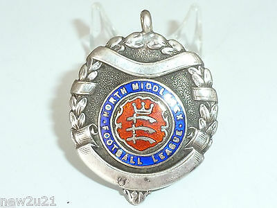 Silver Enamel Fob Medal Football League North Middlesex