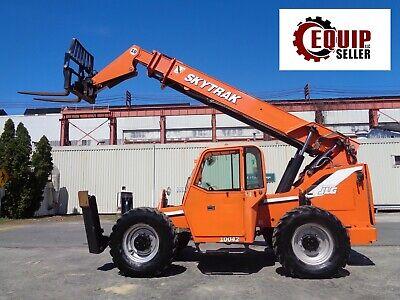 2008 Jlg 10042 Telehandler Telescopic Boom Forklift 10000 Lbs 4x4 Cab Diesel