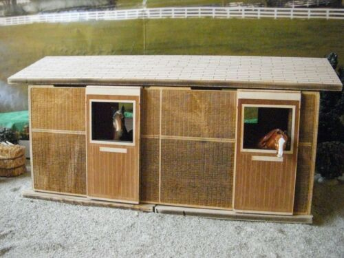 Stablemate scale BARN KIT, You build TWO STALL