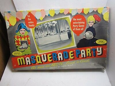 Masquerade Party As Seen On Abc Tv Board Game 1955 Bettye B Products  Ultra Rare