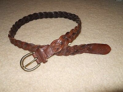 Abercrombie & Fitch  Braided Leather Belt Sz 32