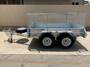 8X5 HEAVY DUTY GALVANISED TRAILER WITH BRAKES AND CAGE Pooraka Salisbury Area Preview