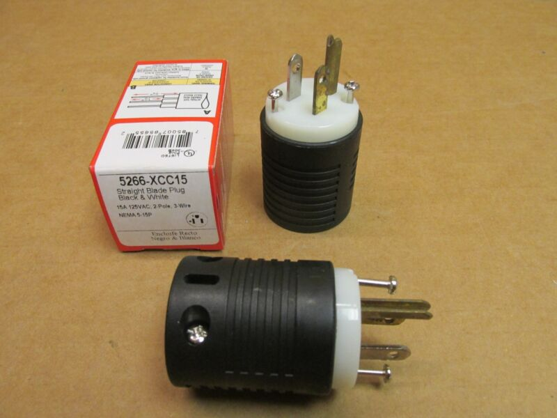 MALE EXTENSION CORD PLUG END HEAVY DUTY PASS SEYMOUR QUALITY 15 A 125 V ST BLADE
