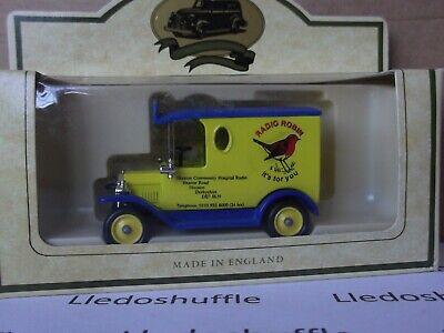 Lledo LP6 Code 3 Model T Ford Van, Radio Robin Ilkeston Community Hospital, c.78