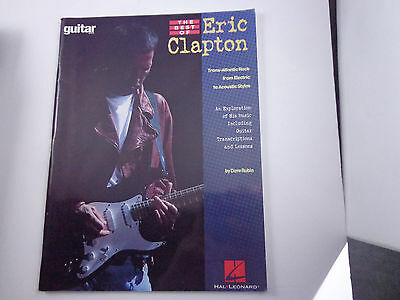 *  THE BEST OF ERIC CLAPTON-HAL LEONARD  -SONGBOOK-GUITAR ELECTRIC to ACOUSTIC