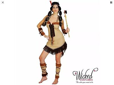 Christmas Costumes Adults (Wicked Costumes Adult Indian Princess Fancy Dress S Christmas New)