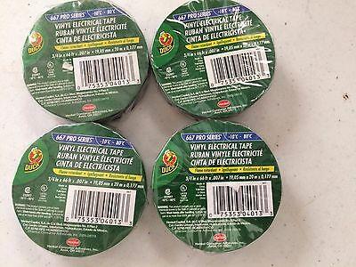 Lot Of 4 Rolls Duck Brand Vinyl Electrical Tape 34 X 66 Ft. Electrical Tape