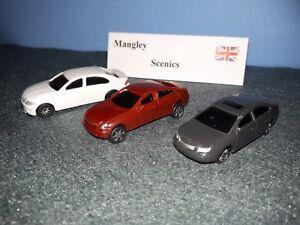 MANGLEY SCENICS 3 pcs Cars for oo gauge diorama model railway 1/76 scale