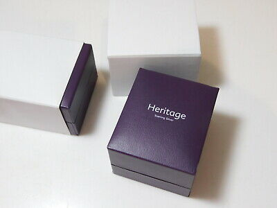 6 Brand New Presentation Jewelry Earring Gift Box Purple Faux Leather W Sleeve