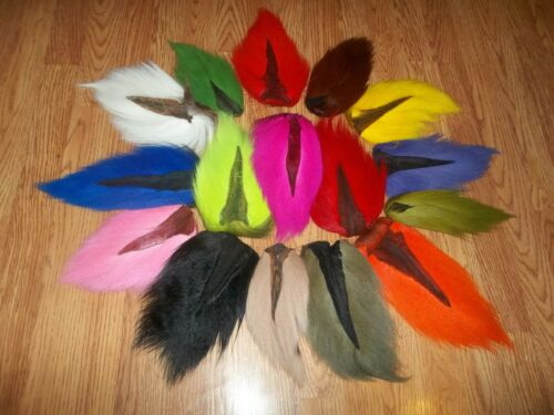 1  BUCK TAIL Deer tails  - Premium Fly Tying Fishing Material - Natural & Dyed
