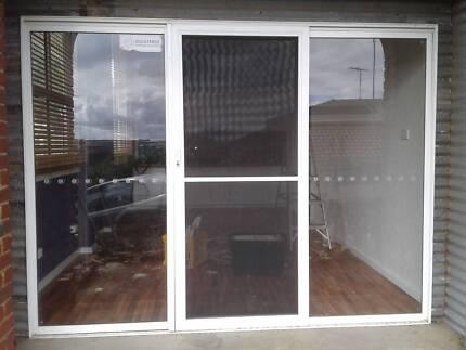 sliding glass door 3 panels & sliding screen door in Burnie-Devonport Region TAS   Building ...