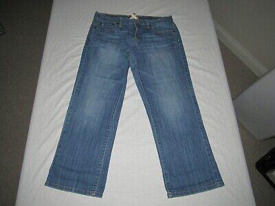 Lucky Brand Women's Easy Rider Crop Blue Denim Jeans Size 8/29 Waist 30