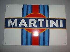 Martini Emaille Werkstatt Schild Emailschild, sehr schwer, riesig, 37x25cm NEU