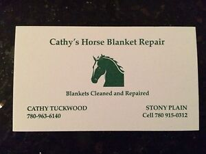 Cathy's Horse Blanket Repair