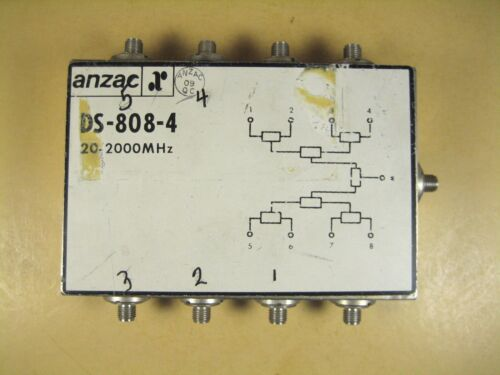 Anzac  DS-808-4  20-2000 MHz  Power Divider
