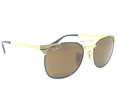 BRAND NEW KIDS RAY-BAN JRRJ 9540S GOLD BLUE POLARIZED SUNGLASSES AUTHENTIC (Kids Sunglasses Brands)