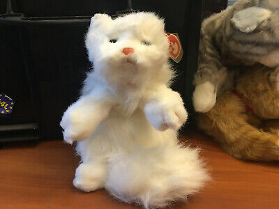 TY COMPANY LARGE SIZE PLUSH CAT WITH TAGS WHITE - Party Ty