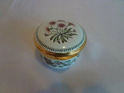 Portmeirion Botanic Garden Enamel Ring Box with Hinged Lid - Treasure Flower