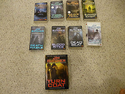 Jim Butcher series, Dresden Files, volumes 1-7, 9, 11 + Hardcover on Rummage