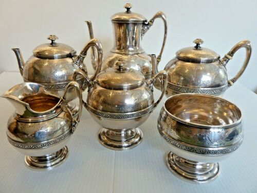 "FINE J. E. CALDWELL STERLING SILVER 6-PIECE TEA/COFFEE SET ""ENGLISH STERLING"""