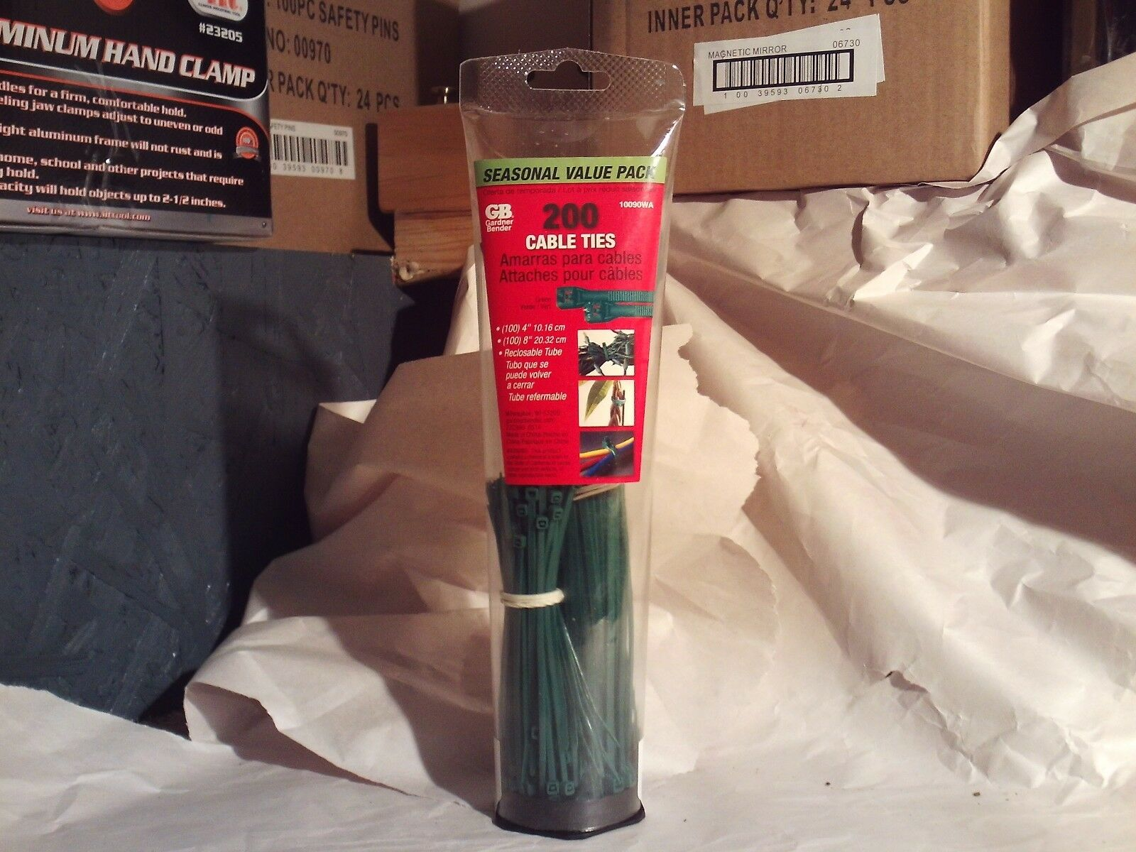 Gardner Bender 10090WA Cable Tie Assortment, 200 Pack, Green