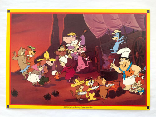 HANNA BARBERA MUTTLEY YOGI BEAR SNAGGLEPUSS ATOM ANT FLINTSTONES TOP CAT PRINT