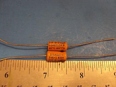 100uf 20v 10/% Sprague 150D TANTALUM CAPACITORS  2 Ea