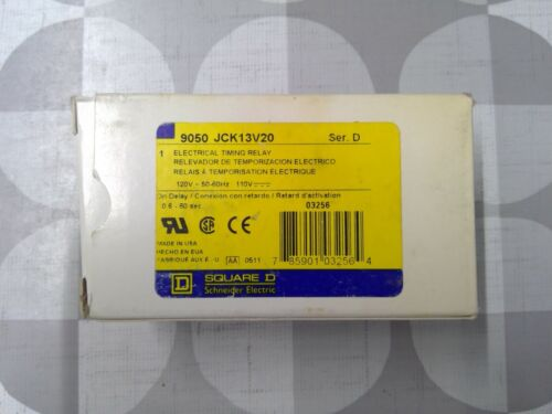Square D 9050 JCK13V20 Electrical Timing Relay **Free Shipping**