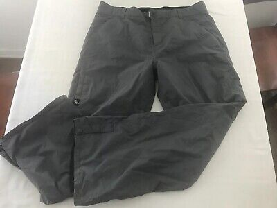 Quicksilver 5000 Lightweight Nylon Snowboard Ski Snow Pants Mens Large Gray TS9