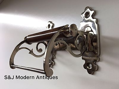 Unusual Toilet Roll Holder Chrome Novelty Vintage Victorian Silver Shabby Chic