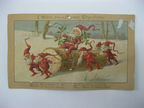 VTG Victorian Christmas Greeting Card 1800