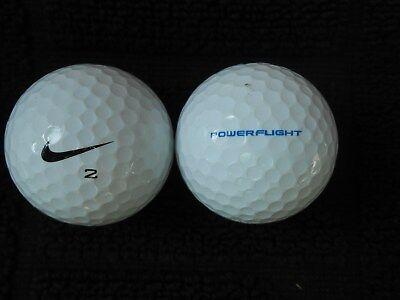 "20  NIKE ""POWER FLIGHT""  - Golf Balls  -  ""PEARL/A""  Grades."