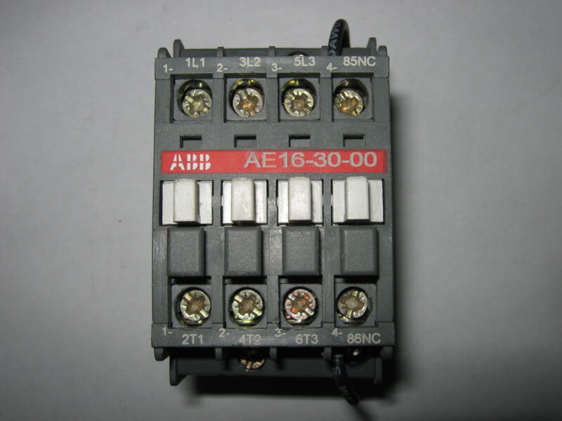 ABB  Contactor, AE16-30-00, 24V, Used