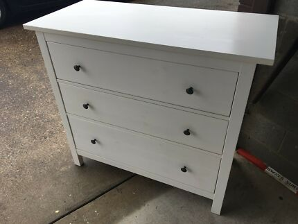 IKEA 3 chest of draws - white