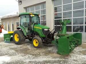 2008 John Deere 4720 Tracteur souffleur AVANT gratte .