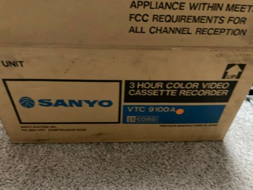 MINT IN BOX! Sanyo BetaCord Video Cassette Recorder Player VTC 9100A, AWESOME!