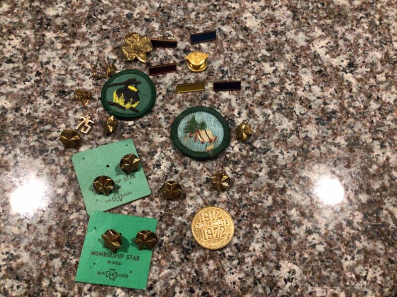 Girl Scout Pins multiple styles and years Vintage