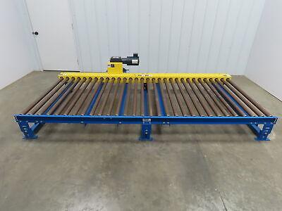 Lewco Powered Live Roller Case Pallet Skid Conveyor 120x 48 460v 3ph 31 Fpm
