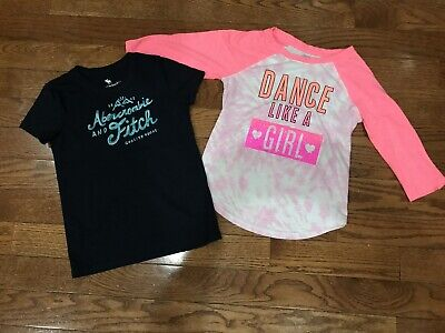 Abercrombie Kids SO Size 9 10 Shirts Tops Lot Kids Clothing T-Shirt Navy Pink