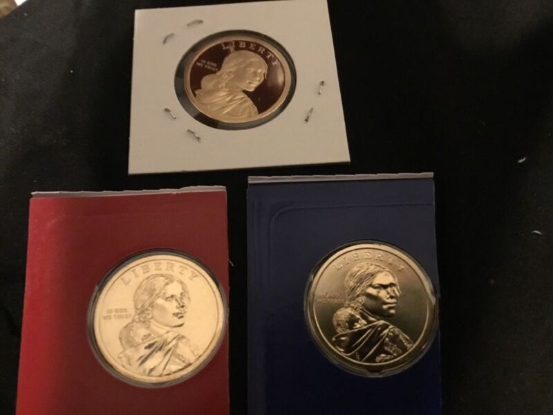 2019 P+D+S Native American Sacagawea Set ~ Proof and PD from U S Mint Roll